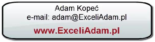Excel i Adam - kontakt