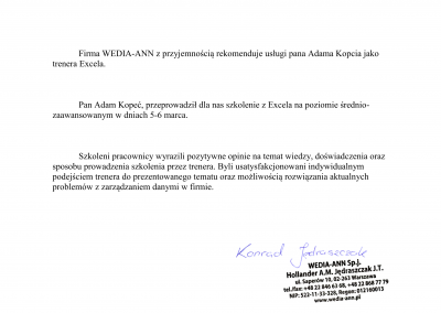 WEDIA-ANN - Konrad Jędraszczak