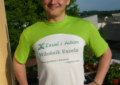 Koszulka Excel i Adam