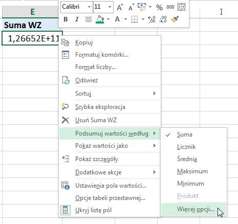 Widzowie 91 - Jak obliczyć unikalną ilość elementów pod warunkiem - tabela przestawna Excel 2013 03