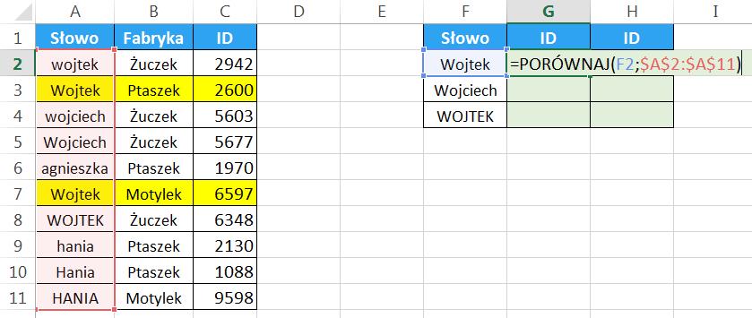 Widzowie 95 - Jak wyszukiwać z uwzględnieniem wielkości liter różne funkcje 01