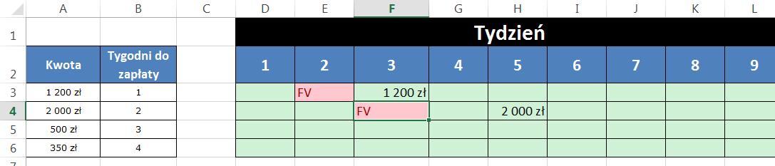 Widzowie 96 - Jak wstawić wartość faktury po x kolumnach 01