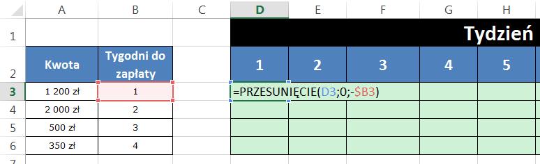 Widzowie 96 - Jak wstawić wartość faktury po x kolumnach 02