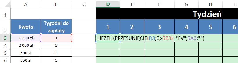 Widzowie 96 - Jak wstawić wartość faktury po x kolumnach 03