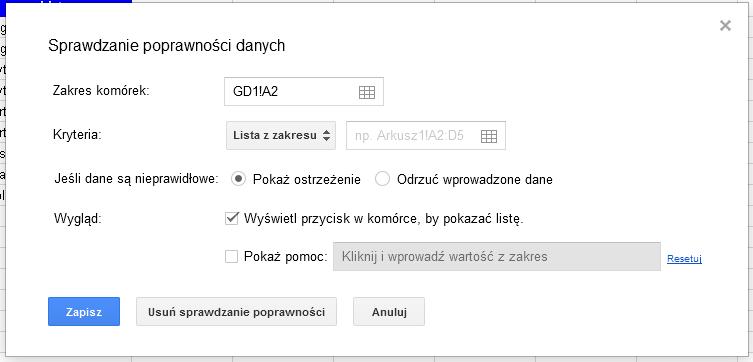 Google Docs 1 - Lista rozwijana z opcją wyszukiwania 03