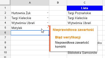 Google Docs 1 - Lista rozwijana z opcją wyszukiwania 05