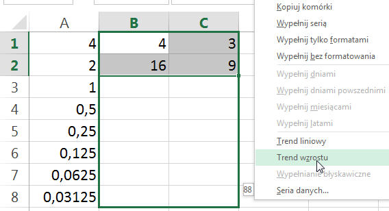 Porada 276 - Jak stworzyć ciąg geometryczny (trend wzrostu) 02
