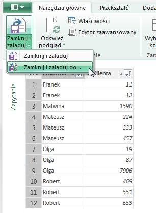 Podział Kolumny Na Wiersze Excel Powerquery 1
