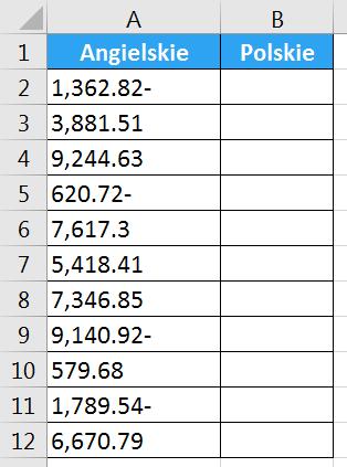 Porada 292 - Zamiana angielskich liczb na polskie za pomocą Tekst jako kolumny 01