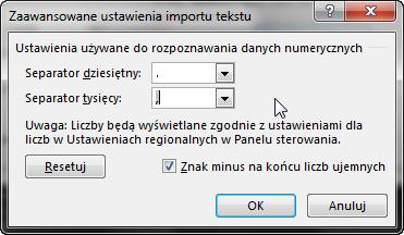 Porada 292 - Zamiana angielskich liczb na polskie za pomocą Tekst jako kolumny 03