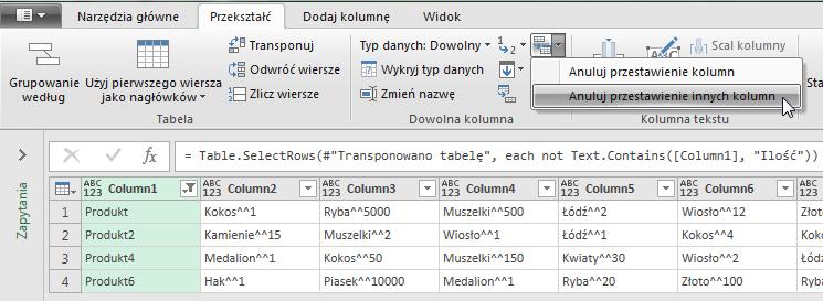 PowerQuery 2 - Łączenie kolumn z danymi 08