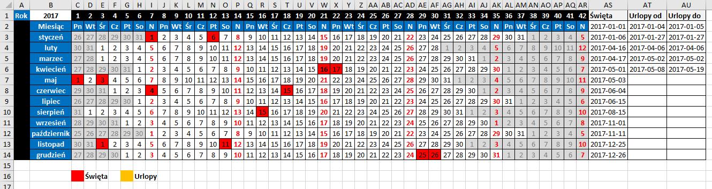 widzowie 116 - Jak zaznaczyć urlop w kalendarzu 01