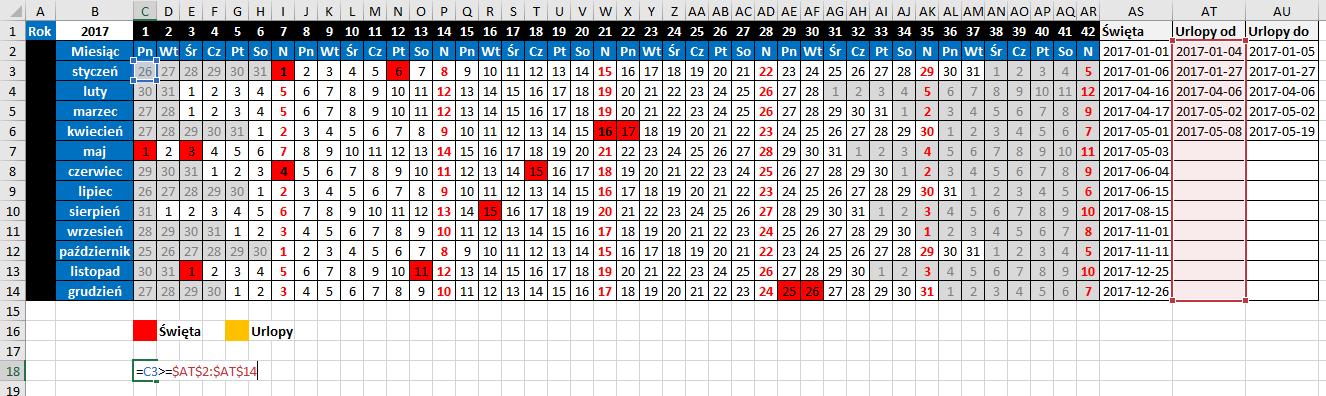 widzowie 116 - Jak zaznaczyć urlop w kalendarzu 02