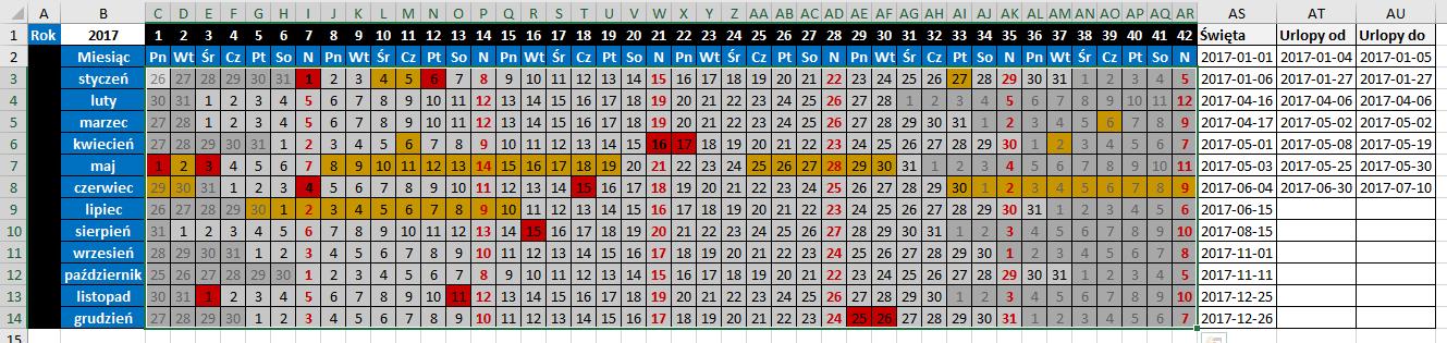 widzowie 116 - Jak zaznaczyć urlop w kalendarzu 05