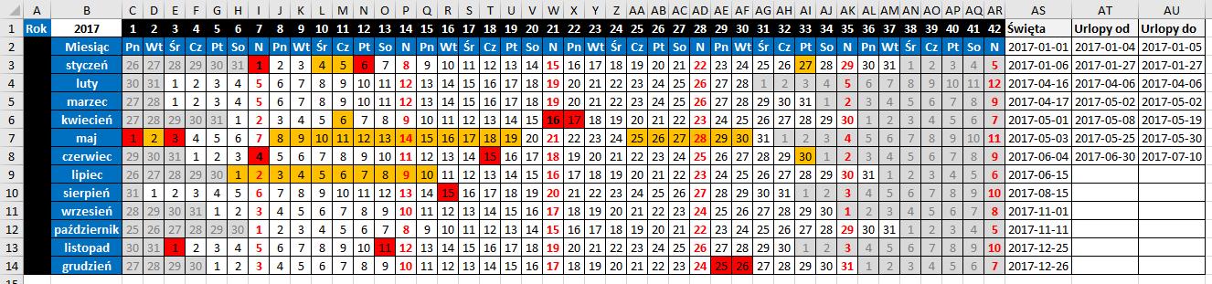 widzowie 116 - Jak zaznaczyć urlop w kalendarzu 06
