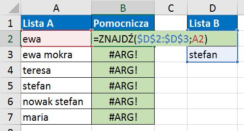 Widzowie 117 - Jak znaleźć wartości z listy A, które zawierają elementy listy B 02