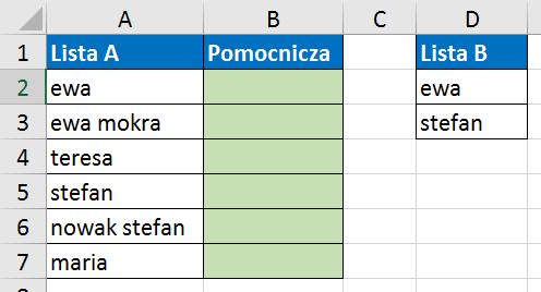 Widzowie 118 - Elementy z listy A, które zawierają elementy z listy B (filtry zaawansowane) 01