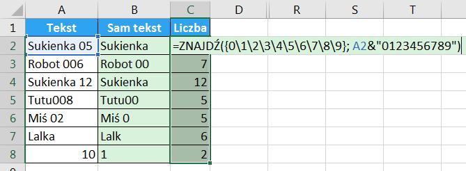 Porada 294 - Jak wyciągnąć liczbę z początka lub końca tekstu 03