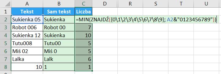 Porada 294 - Jak wyciągnąć liczbę z początka lub końca tekstu 05