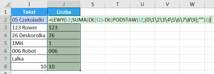 Porada 294 - Jak wyciągnąć liczbę z początka lub końca tekstu 12