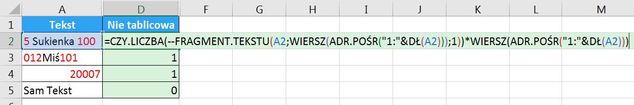 Porada 296 - Jak wyciągnąć wszystkie cyfry z tekstu bez POŁĄCZ.TEKSTY i formuł tablicowych 03