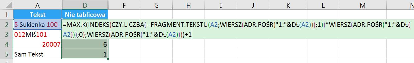 Porada 296 - Jak wyciągnąć wszystkie cyfry z tekstu bez POŁĄCZ.TEKSTY i formuł tablicowych 04