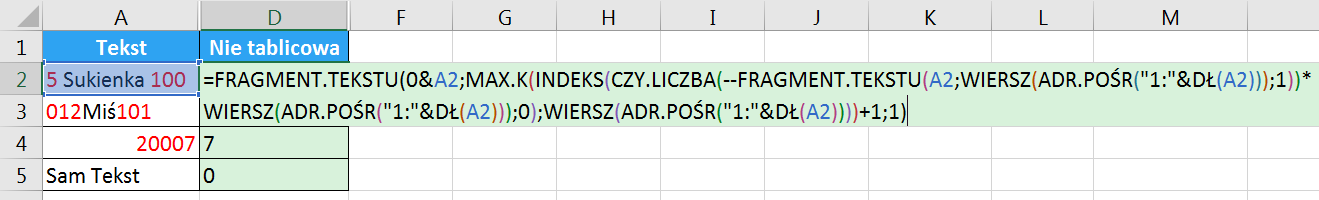 Porada 296 - Jak wyciągnąć wszystkie cyfry z tekstu bez POŁĄCZ.TEKSTY i formuł tablicowych 05