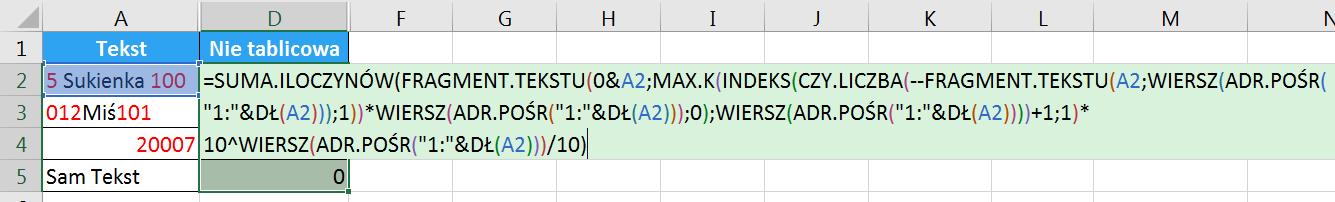 Porada 296 - Jak wyciągnąć wszystkie cyfry z tekstu bez POŁĄCZ.TEKSTY i formuł tablicowych 06