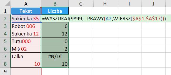 Porada 297 - Jak wyciągnąć liczbę z początku lub końca tekstu (alternatywna formuła) 03
