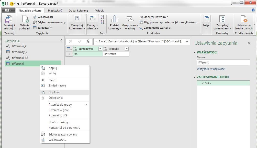 PQ 10 - Jak pobierać wartość z Excela do PowerQuery 02