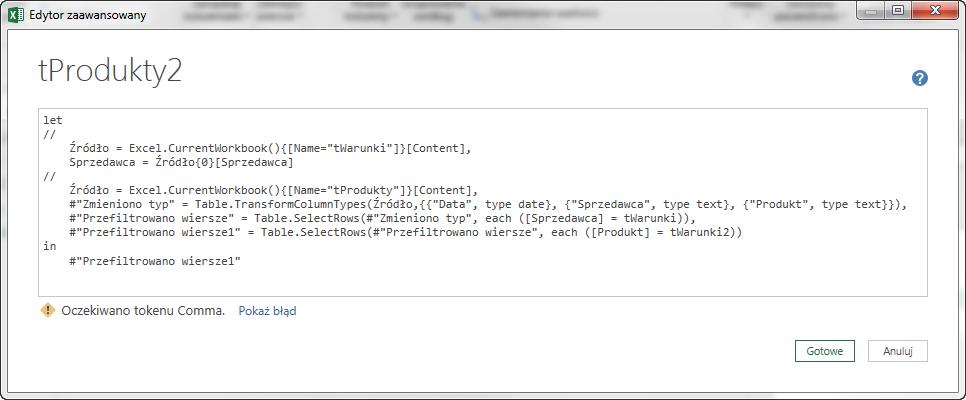 PQ 10 - Jak pobierać wartość z Excela do PowerQuery 11