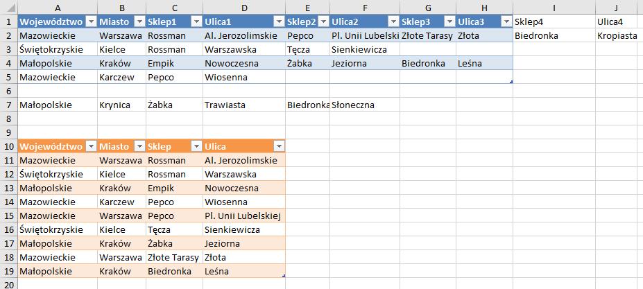 PQ 5 - Wiersze z wieloma rekordami do prawidłowego zestawu danych - łączenie zapytań 09
