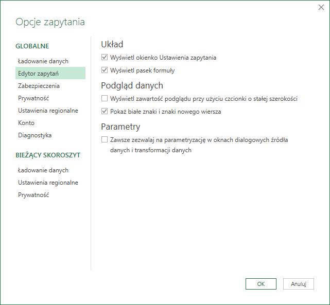 PQ 9 - Wyłączanie zmiany typu danych i inne opcje PowerQuery 04