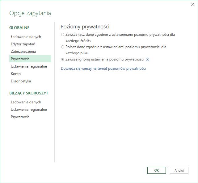 PQ 9 - Wyłączanie zmiany typu danych i inne opcje PowerQuery 05