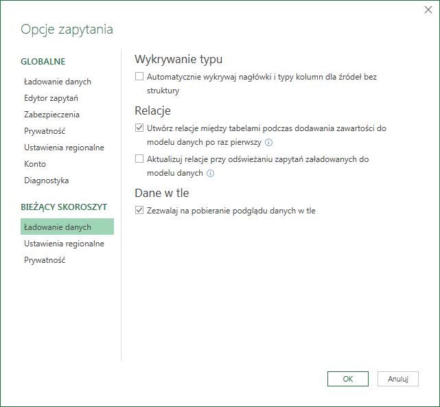 PQ 9 - Wyłączanie zmiany typu danych i inne opcje PowerQuery 07
