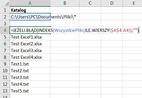 Porada 305 - Lista plików z katalogu za pomocą funkcji makr 4.0 - 07
