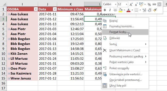 [rys. 8 – Format liczby w tabeli przestawnej]