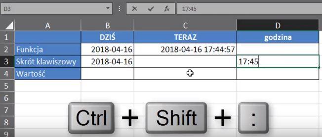 Rys. nr 7 - Skrót klawiszowy Ctrl+Shift+;