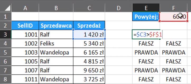 Excel Jak Zaznaczyć Tylko Pierwszy Wiersz Spełniający