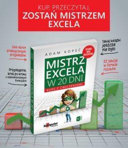 Książka Mistrz Excela reklama