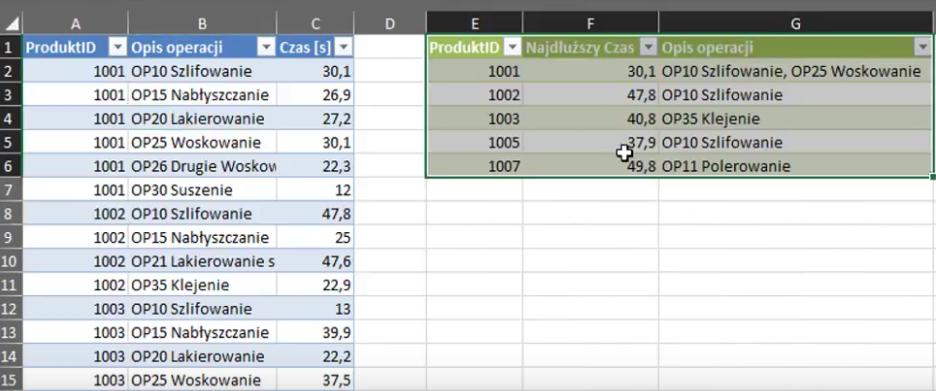 rys. nr 24 - Dane w Excelu