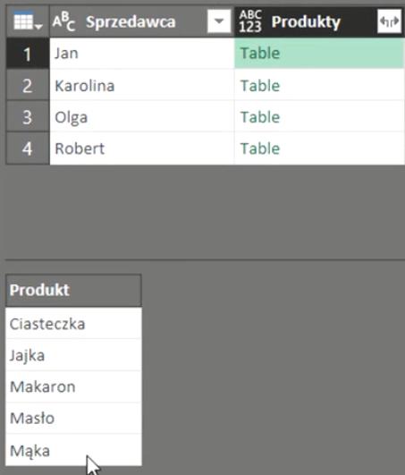 rys. nr 15 - dane ukryte pod nazwą table