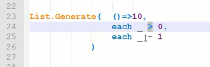 rys. nr 12 - przykładowe argumenty funkcji List.Generate