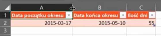 rys. nr 24 - dane w Excelu, rozwiązanie zadania 5.2 z matury z informatyki w Power Query
