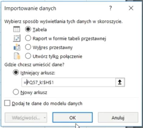 Rys. nr 14 – okno Importowania danych