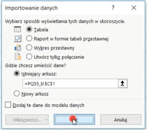 Rys. nr 15 – okno Importowania danych