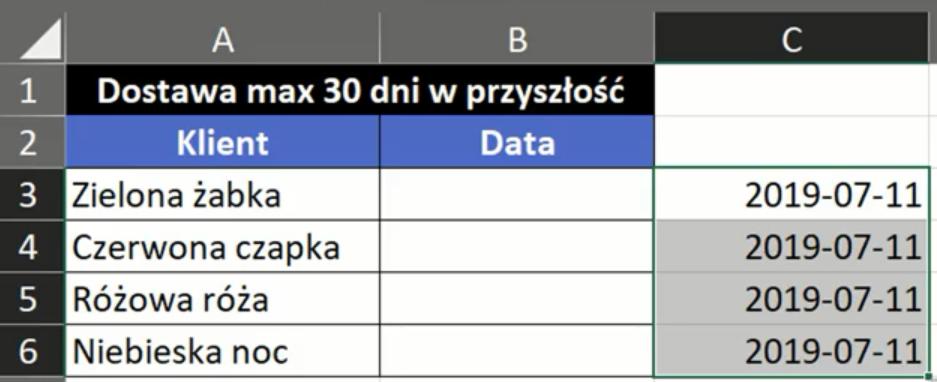 Rys. nr 3 – Data po upływie 30 dni od dzisiejszej daty