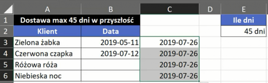 Rys. nr 7 – zmiana kryterium poprawności danych