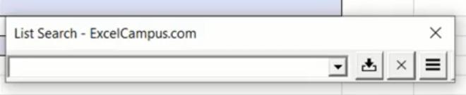 Rys. nr 14 – makro ListSearch uruchomione za pomocą skrótu klawiszowego Ctrl+L