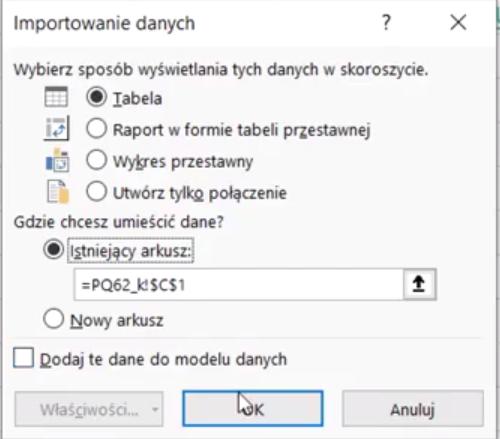 Rys. nr 27 – okno Importowania danych